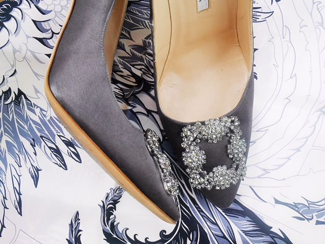 Result: Manolo Blahnik Hangisi pumps in Gunmetal Grey