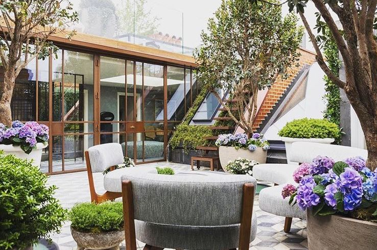 City roof terrace design by Cameron Gardens