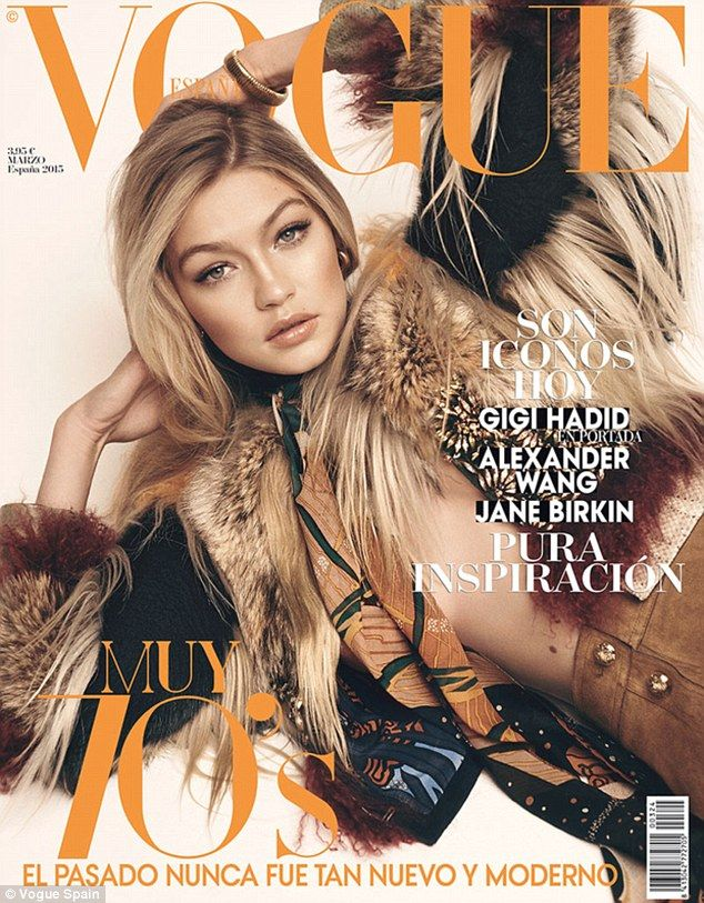 Gigi Hadid's First Vogue Cover March 2015, Hair By Neil Moodie
