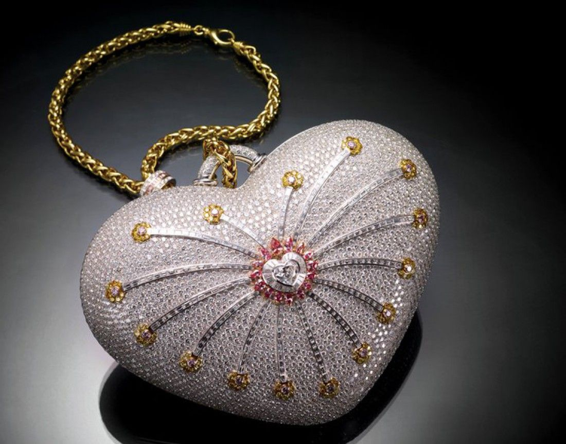 The most valuable handbag in the world: The Mouawad 1001 Nights Diamond Purse, estimated at $3.8 million in 2010
