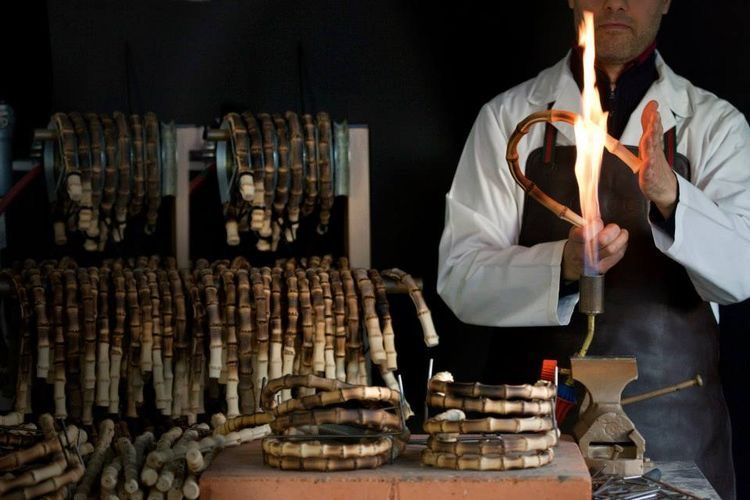 Gucci Artisans Heating Bamboo In Florence