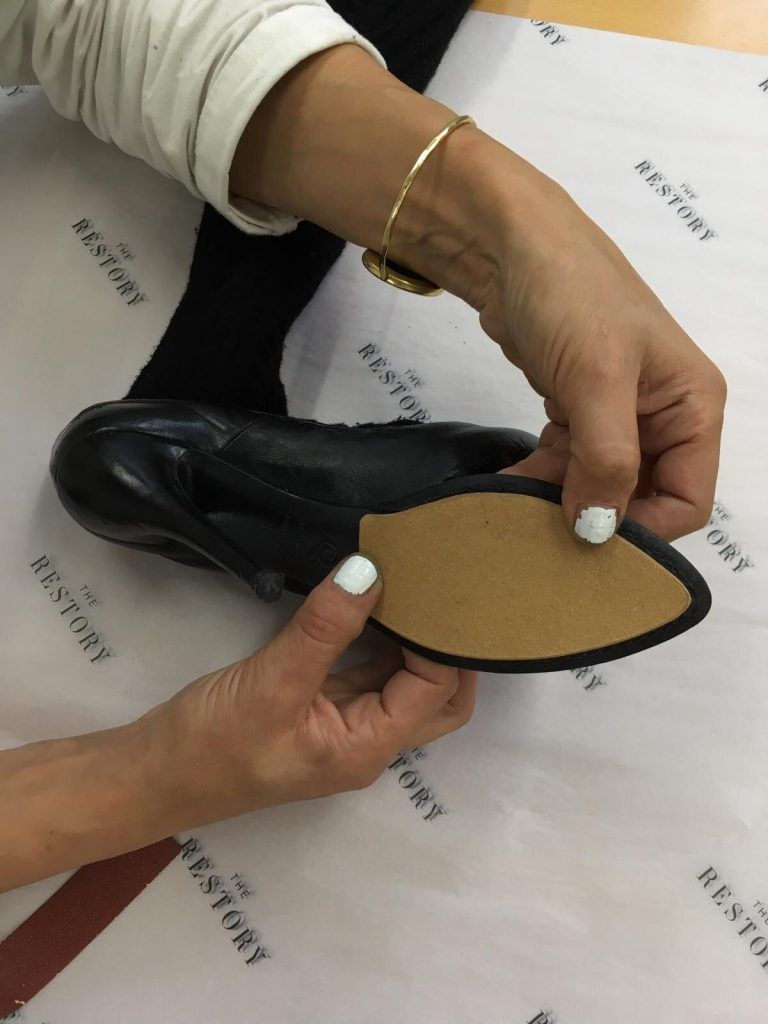Creating a new leather platform sole