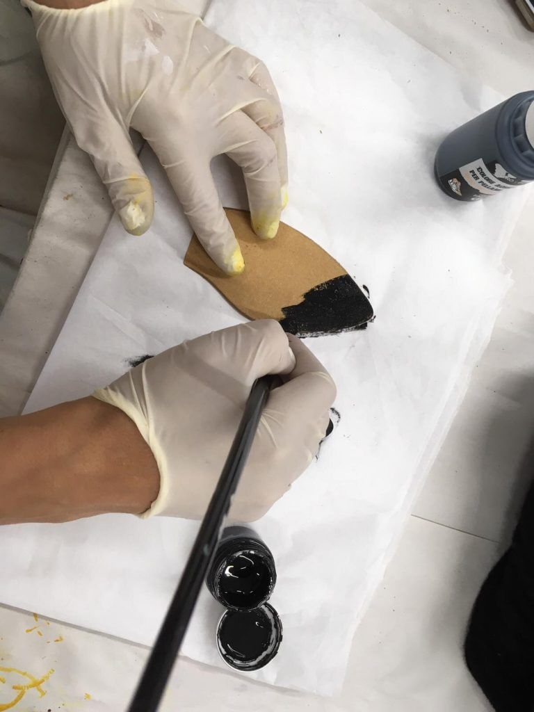 Painting the sole