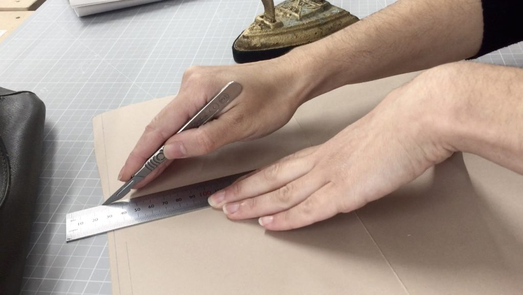 Cutting the pattern for the reinforcement