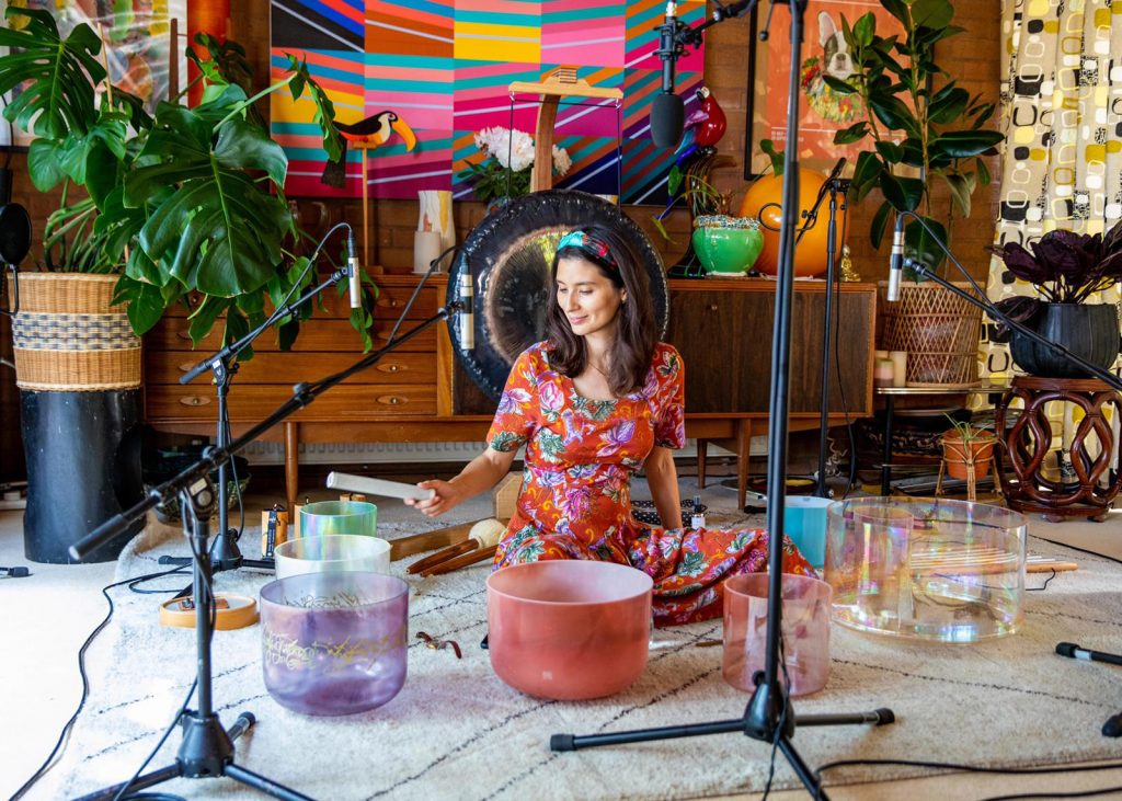 Jasmine Hemsley Sound bath - lockdown love